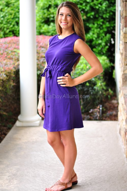Walk On Gameday Dress Purple