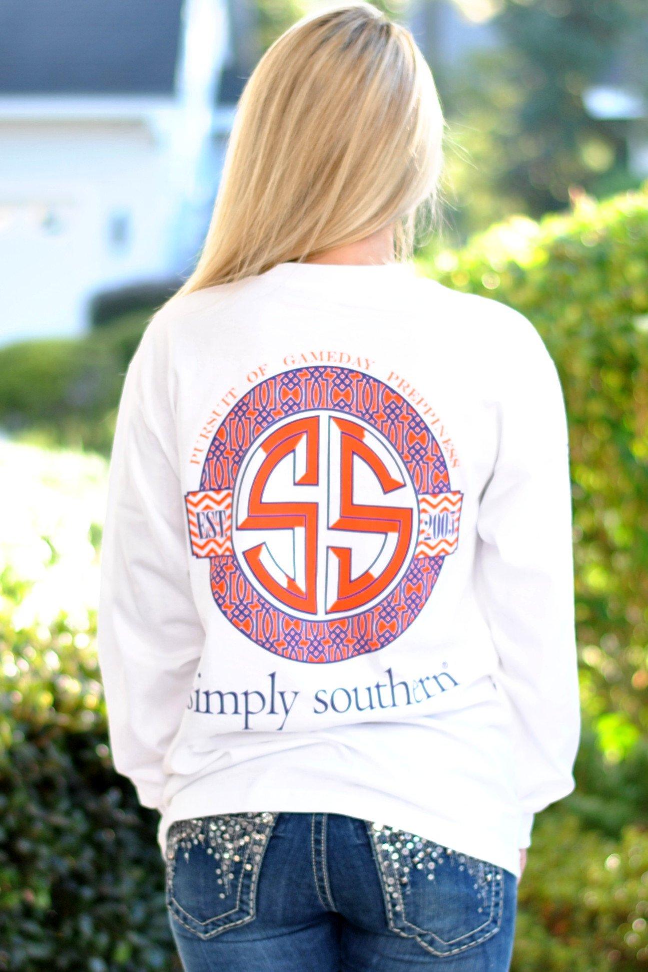Simply Gameday Tee-Purple/Orange Southern