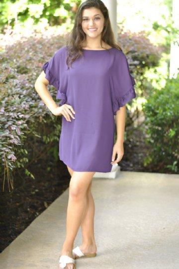 45d7999e ECU game day attire - purple and gold dresses
