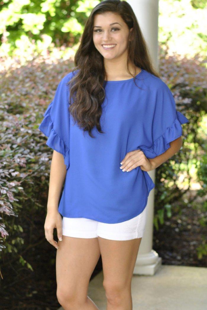 Top Blue Nail Art Designs To Suit Your Blue Costumes: Ooh La La Top- Blue