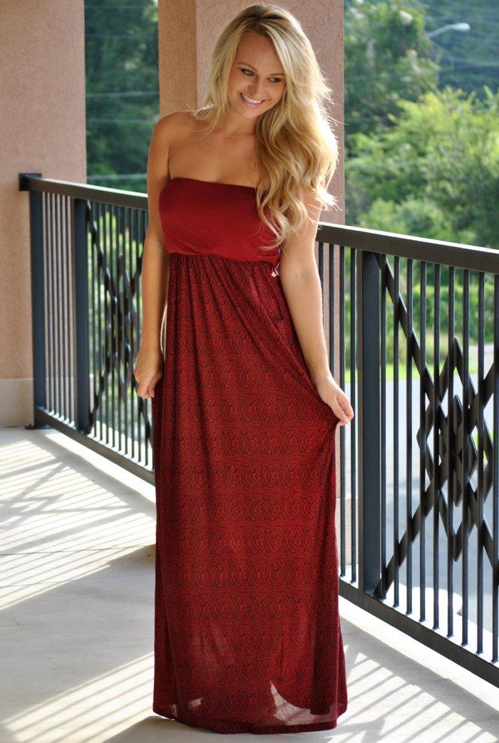 4th And Long Maxi Dress Garnetblack